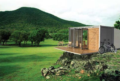 prefab shipping container shelter
